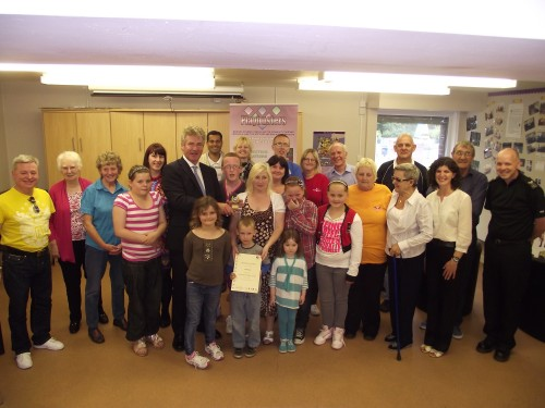 UK Chair of The Big Lottery Fund Peter Ainsworth presents us with The Volunteer Friendly Award