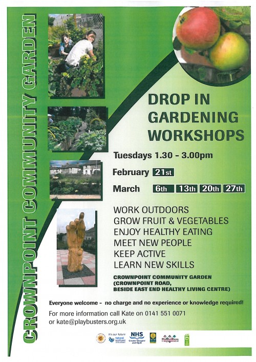 Crownpoint Community Garden workshops